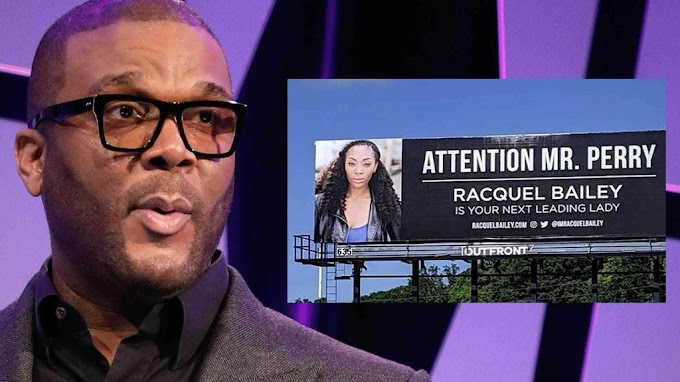Actress pays $2,000 to put up huge billboard asking Tyler Perry for a job and he reply