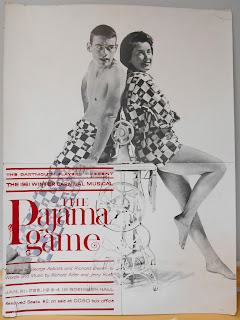 "A poster for ""The Pajama Game."""