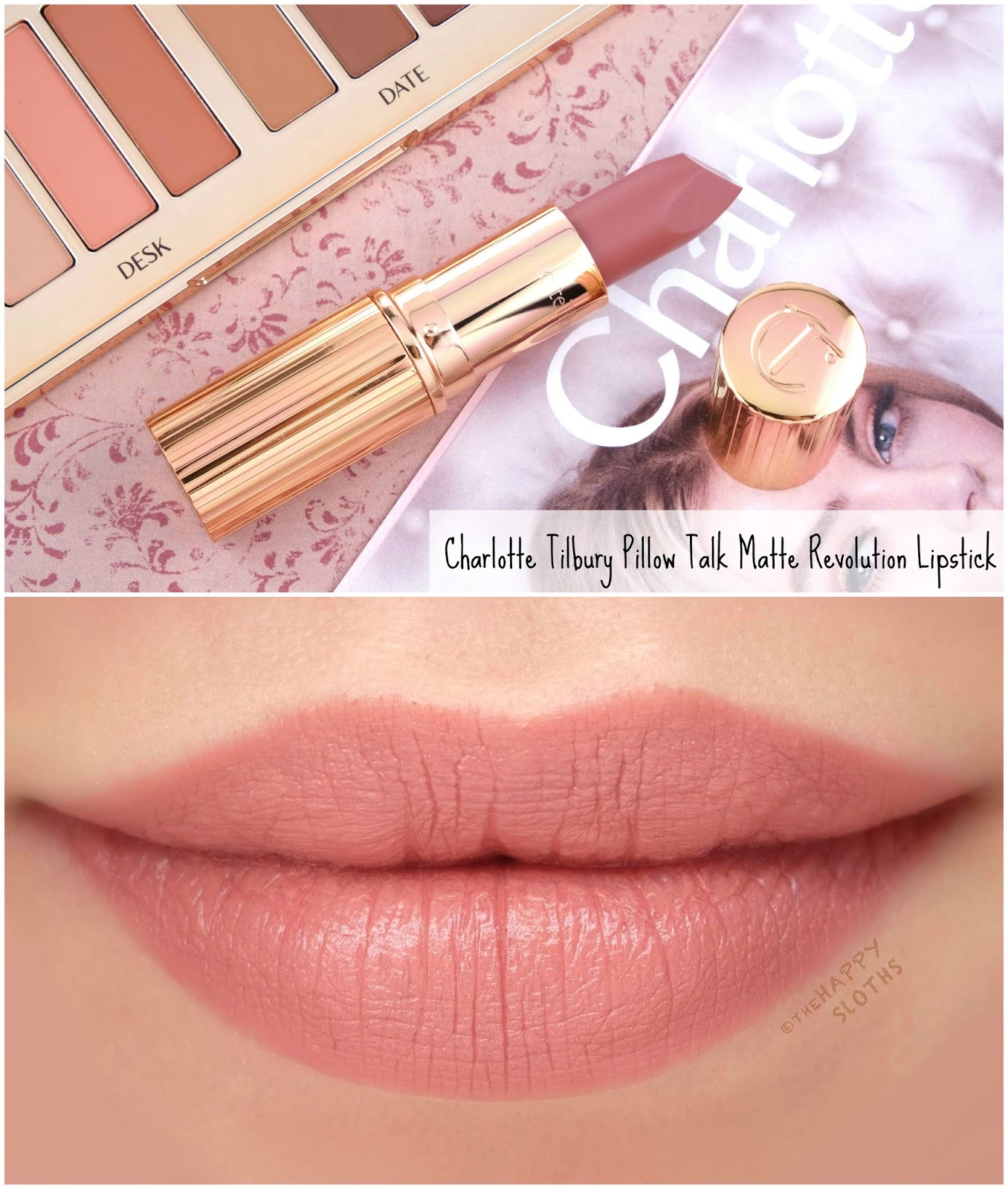 Charlotte Tilbury | Pillow Talk Lipstick: Review and Swatches