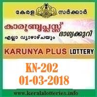 KARUNYA PLUS (KN-202) LOTTERY RESULT