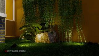 tips desain taman minimalis di lahan sempit