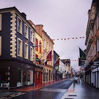 Pictures of Ireland: empty street in Cork Ireland