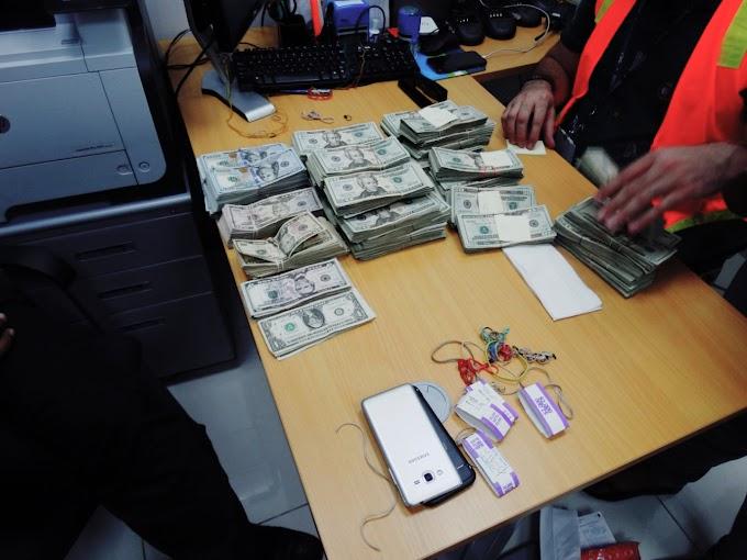 Decomisan más de 154 mil dólares y detienen dos personas en el Aeropuerto Internacional del Higuero