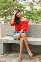 Rhea Chakraborty in Red Crop Top and Denim Shorts Spicy Pics ~  Exclusive 018.JPG