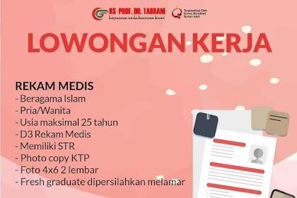 Lowongan Pekerjaan Rekam Medis di RS. Prof. DR. Tabrani Pekanbaru