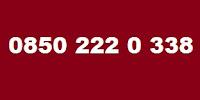 0850 222 0 338 Kimin Telefon Numarası