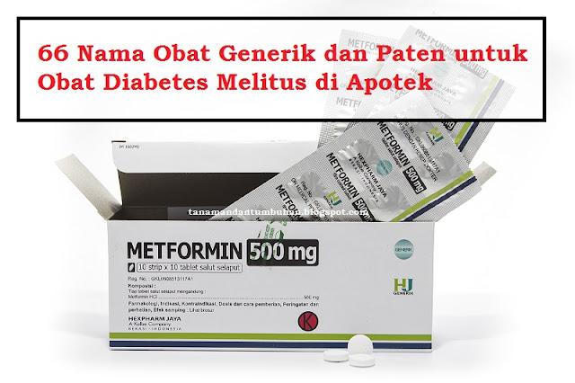 Nama Obat Generik dan Paten untuk Obat Diabetes Melitus di Apotek