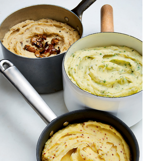 Decadent Mashed Potatoes with Three Variations
