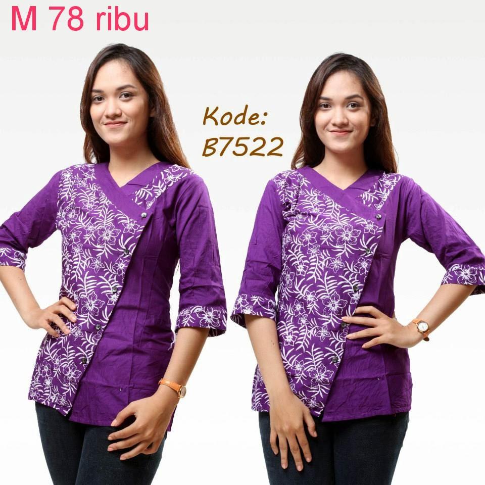 Model Baju Batik Modern Untuk Kerja Wanita: Model Baju Batik Untuk Kerja Kantor