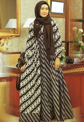 contoh baju muslim batik terbaru