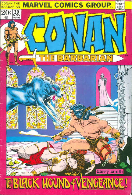 Conan the Barbarian v1 #20 marvel comic book cover art by Barry Windsor Smith