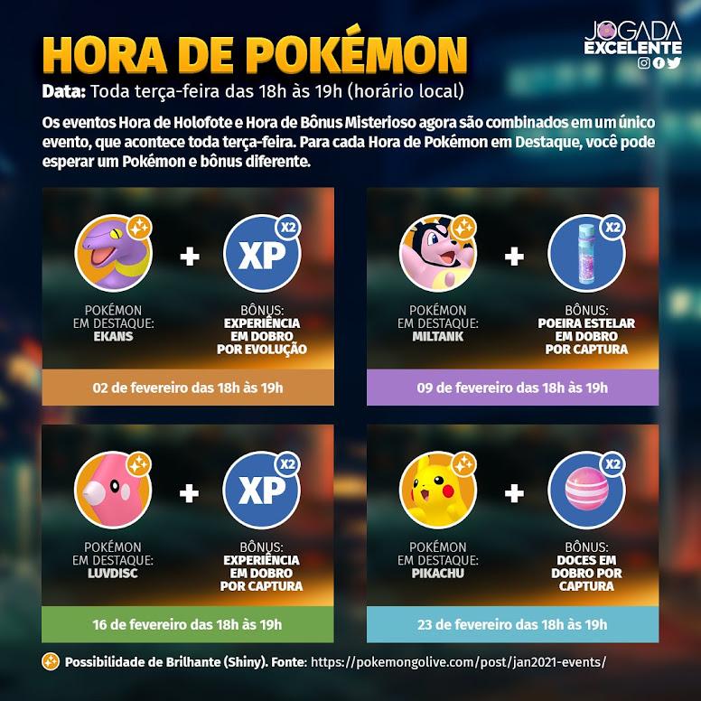 Hora do Holofote Pokémon GO Fevereiro 2021