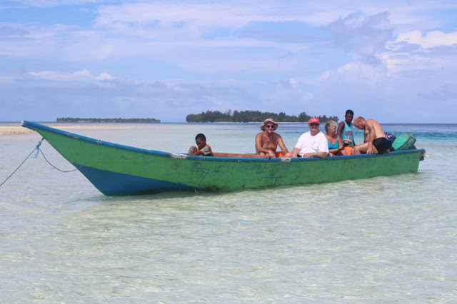Shuttle boat between Waisai town and Seafan homestay