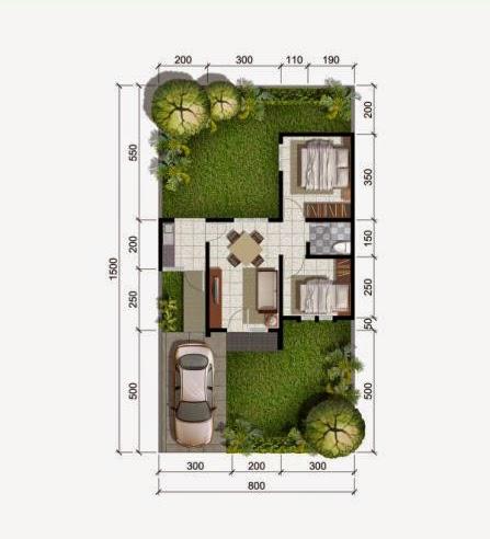 Denah Rumah Minimalis Type 42