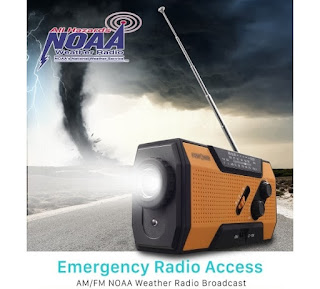 fospower emergency solar crank portable radio icon