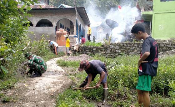 Satgas TMMD Ke-109 Kodim 0311/Pessel Gelar Karya Bhakti Bersama Masyarakat Pancung Taba