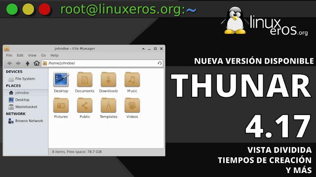 Thunar File Manager de Xfce, con vista dividida y más
