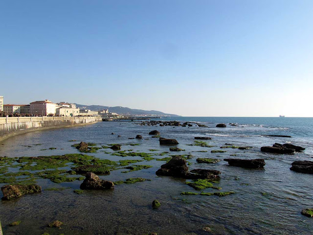 The shallows in front of the Terrazza Mascagni, Livorno