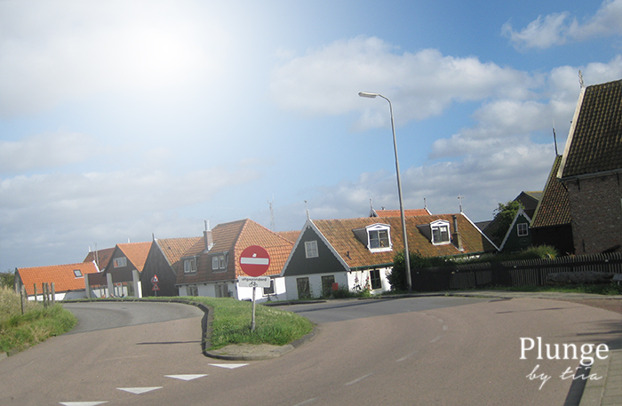 Cute houses in Texel