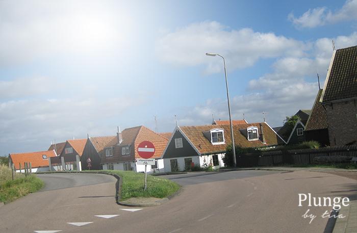 Cute houses in Texel