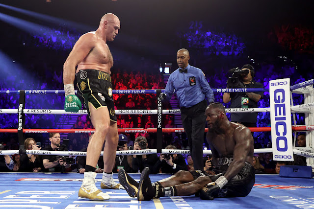 TYSON AMTWANGA DEONTAY WILDER RAUNDI YA 7 NA KUWA BINGWA MPYA WA WBC
