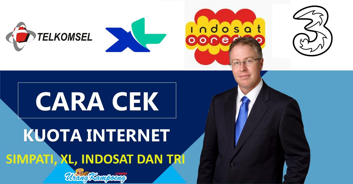 Begini Cara Mengecek Kuota Internet Simpati, Indosat, Xl Dan Tri (Terbaru)