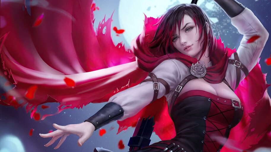 Ruby Rose, RWBY, Anime, Girl, 4K, #6.2356