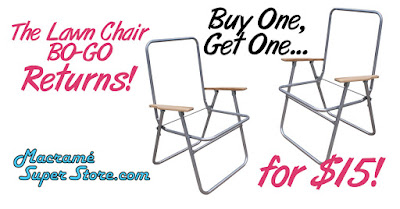 Now at MacrameSuperStore.com: Wood-Arm Lawn Chair Frame SALE