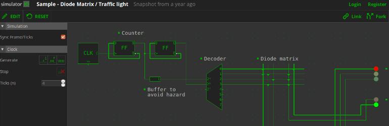 Simulator.io - Plataforma online e gratuita para simulação de circuitos lógicos.