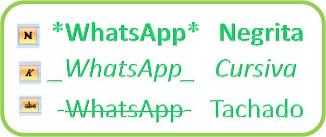 Nuevo WhatsApp, Negrita, Cursiva y Subrayado