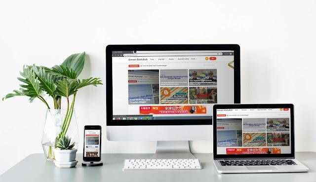 Perkongsian aimanabdullah.com, template dan domain yang digunakan