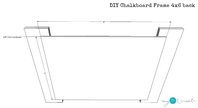 back of 4x6 chalkboard frame plans