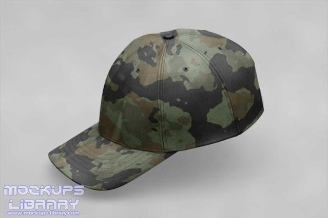 Army Cap Mockup Design