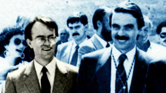 Hernández Mancha y Aznar