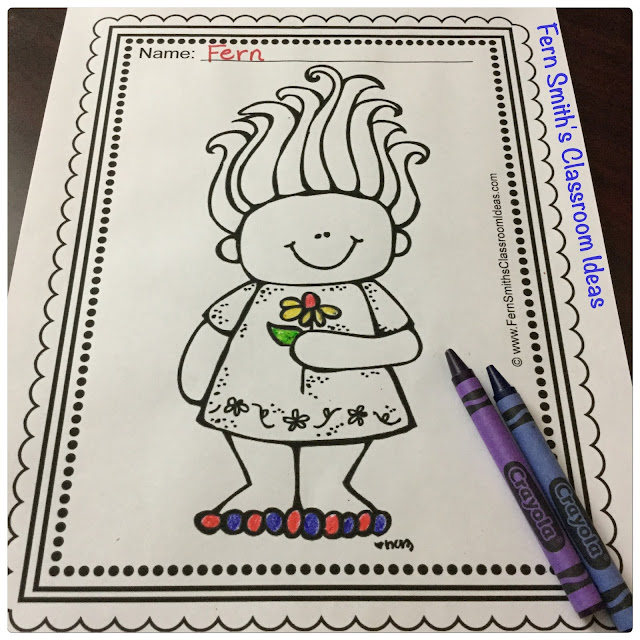 Trolls Coloring Pages Dollar Deal - 12 Pages of Troll Coloring Book Fun You will LOVE the 12 Troll Coloring Pages that come in this $1 Dollar Deal coloring pages resource for Trolls! Your children will absolutely A.D.O.R.E. these Twelve Troll Coloring Pages with the excitement of the new Troll craze! Terrific for a daily coloring page OR have a parent volunteer bind them into a COLORING BOOK for your students. Your students will ADORE these coloring pages because of the cute, cute, cute graphics! Your students can also draw in a Troll background and write about their coloring book page on the back. Use these coloring pages for all sorts of jumping off points for older students to use during their creative writing lessons! Add it to your plans to compliment any Troll Unit! Download these 12 Coloring Book Pages for some INSTANT Troll Coloring Joy in your home or classroom! #FernSmithsClassroomIdeas