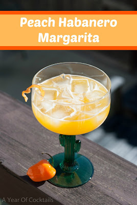 Peach Habanero Margarita by A Year of Cocktails