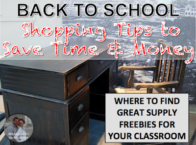 Back to school shopping tips for teachers to help them save time and money