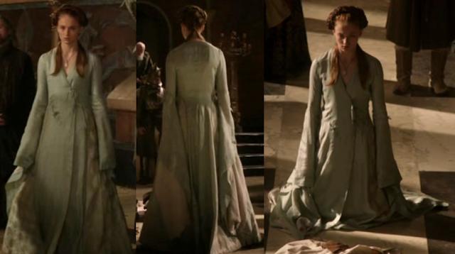 Sansa robe portefeuille verte