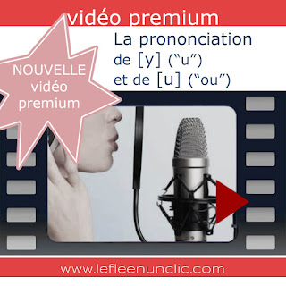 video premium, prononcation, u et ou en français, le FLE en un 'clic'