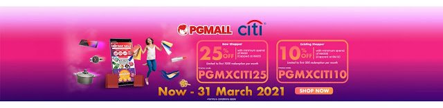 Citibank Card Holder get Great Discounts & Rewards When You Shop Online at PG Mall