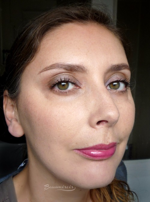 Wearing Lancome Juicy Shaker lip oil in Bohemian Raspberry fotd motd