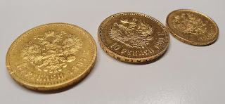 5, 10 et 15 roubles Nicolas II