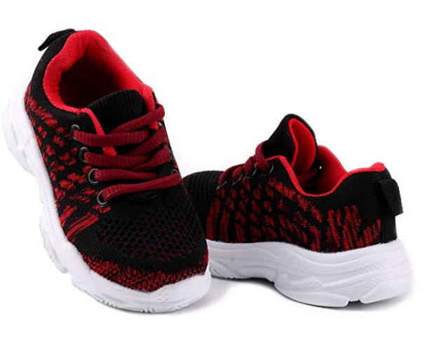 ee20e04c1c573 LONSOEN Kids Boys Girls Running Sneakers Knit Lightweight Athletic ...