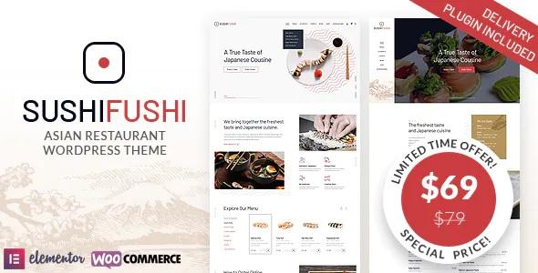 Best Japanese & Asian Restaurant WordPress Theme