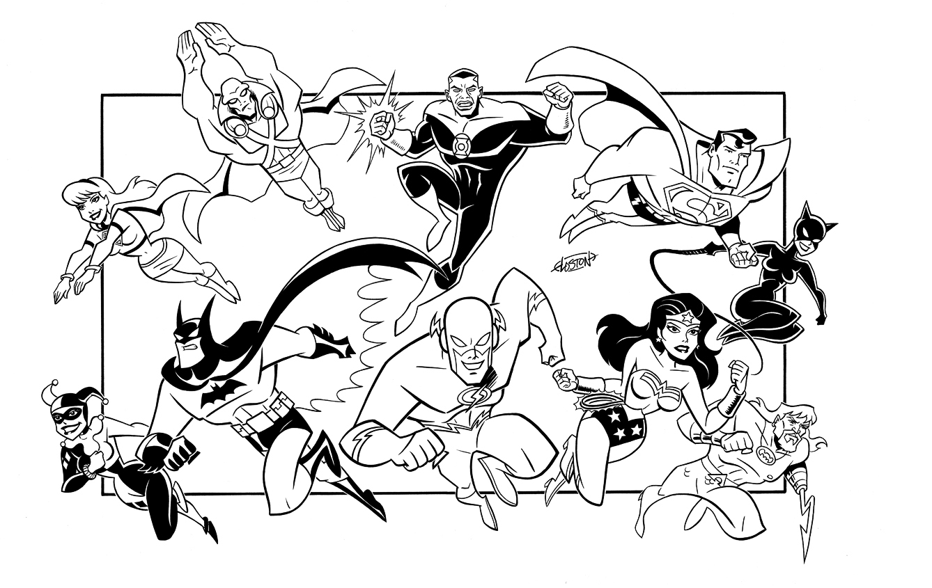 green lantern and justice league coloring pages to print