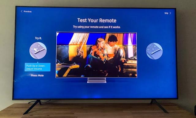 cara setting smart tv samsung 2020