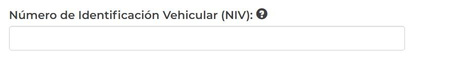 NIV y VIN Numero de Identificacion Vehicular