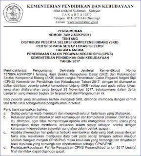 Tata Tertib Peserta SKB (Seleksi Kompetensi Bidang) CPNS Kemendikbud Tahun 2017