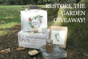 RESTORE THE GARDEN GIVEAWAY! CLICK BELOW:
