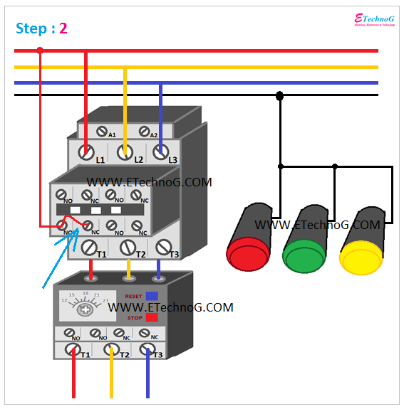 ON, OFF, TRIP Indication Lamp Wiring Connection 2